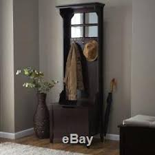 Bench With Storage And Coat Rack Hall Tree with Bench Storage Antique Coat Rack Stand Mirror Entryway 99