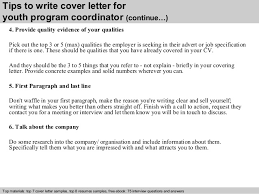 Program Coordinator Cover Letter Tips To Write Cover Letter For