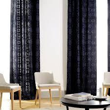 Black Patterned Curtains Unique Design Ideas
