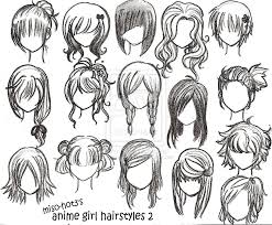 Anime Hairstyle Chart Mau Tahu K