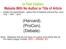 How To Properly Write In Text Citations Ppt Download