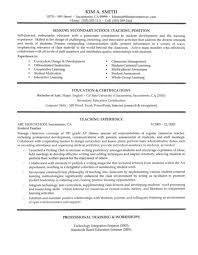 How To Write A Resume For A Teaching Position Resume Examples
