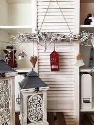 Fensterdeko Weihnachten Shabby Landhaus 65cm Zweige Kranz