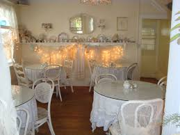 one of the dining rooms at the garden gate tea room
