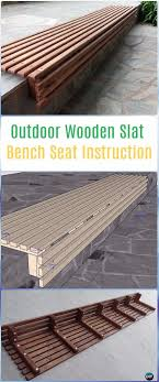diy outdoor wooden slat bench seat instructions diy outdoor garden bench projects instructions