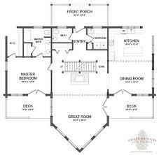 Piedmont III Log Home Features Vaulted Ceilings Expansive Open Open Log Home Floor Plans