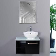 Bathroom Mirror Demister Bathroom Illuminated Mirror Led Light Sensor Demister Shaver Clock