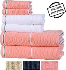 Designer Bath Towels Textured Luxury Cotton Towel Set 6 Pieces 2 Extra Large Bath Towels 2 Hand Towels 2 Washcloths Designer Towels For Bathroom By Avira Home