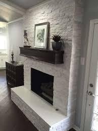 gray stone fireplace beautiful fireplace makeover crystal white quartzite 6x24 interlocking ledger