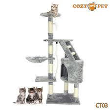 Cozy Pet Deluxe Cat Tree Sisal Scratching Post Quality Cat Trees