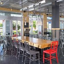 table recycled materials. BurgerFi: Table And Chairs Made From Recycled Materials L