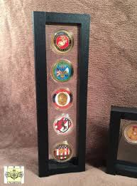 challenge coin case five coin display
