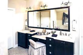 Bathroom vanity ideas makeup station Desk Double Vanity With Makeup Station Oom Makeup Station Ideas Artist Vanity With Double Sink Double Vanity Eddiehansonco Double Vanity With Makeup Station Eddiehansonco