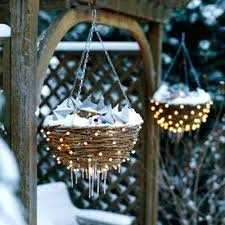 solar lights for hanging baskets use solar powered fairy lights to decorate a hanging basket for