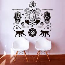 wall decals buddha hand hamsa elephant indian oum om vinyl sticker home decor interior design art on wall art bedroom stickers with wall decals buddha hand hamsa elephant indian oum om vinyl sticker