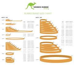 10mm Size Chart Order Bounce Rubber Bands