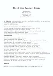 Daycare Worker Resume Simple Daycare Resume Objective Related Post Child Care Worker Resume