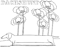 Dachshund Coloring Pages Coloring Pages To Download And Print