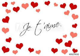 Carte De St Valentin Saint Valentin Carte De La Saint Valentin Coeurs Amour
