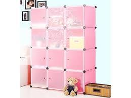 4 tier storage cube closet organizer shelf 12 cube cabinet bookcase pink