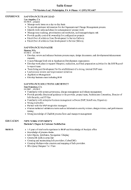 Sap Finance Resume Samples Velvet Jobs