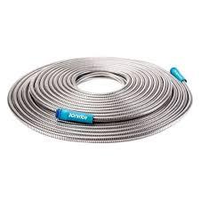 sun joe heavy duty spiral constructed metal garden hose