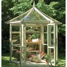 Stylish Sheds This Stylish Tanalised Wooden Potting Shed Greenhouse From