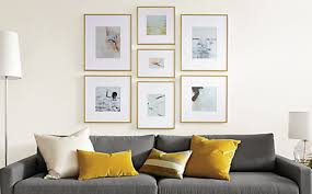Profile Modern Picture Frames In Gold   Modern Picture Frames   Entryway    Room U0026 Board