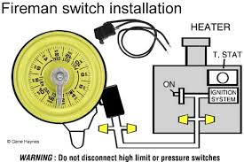 how to connect fireman switch to pool heater two small terminals or two wires inside a connection compartment on heater the product manual will show if the heater has fireman switch connection