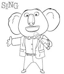 Mr Buster Sing Movie Coloring Page Coloring For Kids 2019