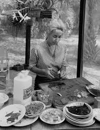 Florida Memory • Artist Beth Arthur working on the patio of her ...