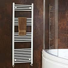 heated towel bar. Phoenix Flavia Straight Radiator - White Heated Towel Bar