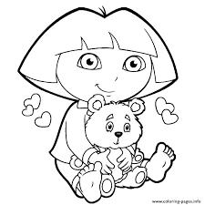 Dora Explorer Coloring Pages Free Printable Explorer Coloring Pages