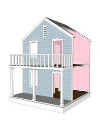 ... Il Fullxfull 552772361 6tbr Doll House Plans For American Girl Or Inch  Dolls Room Modern Simple ...