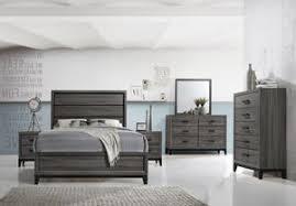 Asheville Configurable Modern Panel Bedroom Set, Queen or King, Gray ...