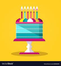 Flat Birthday Cake Designs Cake Flat Design Icon