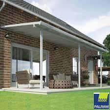 palram feria 3 veranda patio cover in white 3 x 6 10m