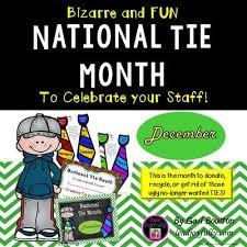 National Tie Month December December