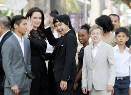 angelina jolie explains how first they killed my father helped her   l r pax angelina jolie maddox zahara and shiloh at the n