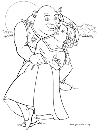 Small Picture Shrek Shrek and Fiona coloring page