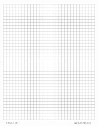 Printable Graph Paper Full Page 1 Inch 1 Inch Square Grid Paper Unique Free Printable Block Graph