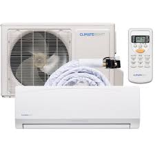 climateright diy quick connect 12 000 btu ductless mini split air conditioner and heater 120v