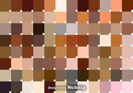 Vector Set Of Skin Tone Swatches Download Free Vectors