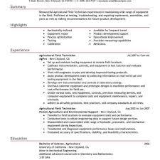 Field Service Technician Resume Examples Field Technician Resume