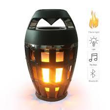 online shop usb led flame lights bluetooth speaker outdoor portable aimitek flame atmosphere lamp light bluetooth speaker portable wireless stereo speaker led flickers outdoor camping