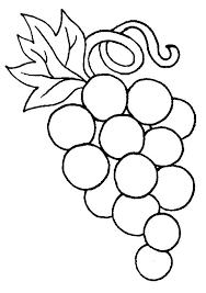 Pretty Design Pictures Of Grapes To Color For Raisins Coloring Pages