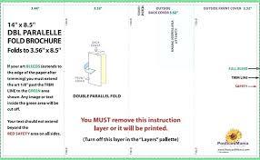 4 Panel Brochure Template Roll Fold Template