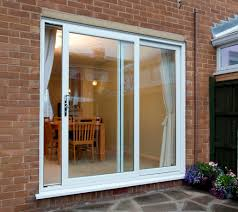 sliding patio doors with curtains