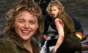 Chloe Grace Moretz seen as a WW2 bomber pilot on set of Shadow in the Cloud  in New Zealand | Daily Mail Online