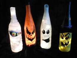 Decorating Empty Wine Bottles Homemade Halloween decor 100 empty milk jug luminaries 32